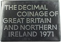 1971 Great Britain First Decimal Coins 6 Coin Proof Set and Mint Token