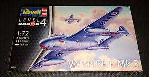 Revell Vampire F Mk.3 1/72 03934 Aircraft Plastic Model Kit