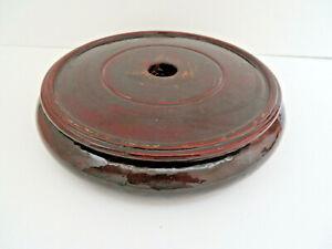 "Chinese Hard Wood Curio Plant Vase Stand 7 1/4"" Inter Diameter"