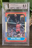 1986-87 FLEER MICHAEL JORDAN #57 ROOKIE RC BGS 8.5 NM-MT+ W/ 9 CENTERING 2 8.5s