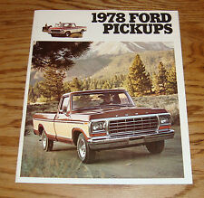 Original 1978 Ford Truck Pickup Sales Brochure 78 F-100 F-150 F-250 Ranger