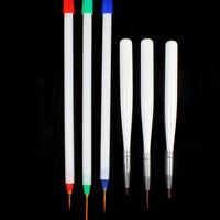 6pcs DIY Acrylic French Nail Art Pen Brush Painting Drawing Liner Manicure Tools
