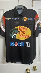 Tony Stewart signed Mobile 1 Bass Pro Shops Stewart-Haas Chevy PIT CREW SHIRT