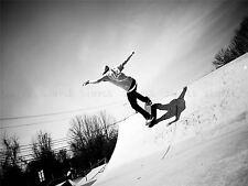 FOTO Sport Skateboard Skater rampa Salto Aria Nero Bianco poster stampa bmp10453