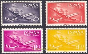EBS Spain España 1955 Lockheed Super-Constellation & Santa Maria 1057-1060 MNH**