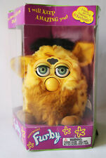 RARE 1999 1ST EDITION ELECTRONIC FURBY GREEN EYES TIGER UNUSED WITH TAGS 2 !