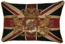 Union Jack Flag Pride Honour Honesty Oblong Woven Tapestry Cushion Cover