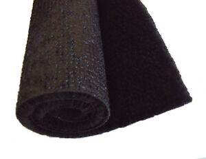 Black car carpet - automotive carpet 1.5m wide (5ft) sold per running metre