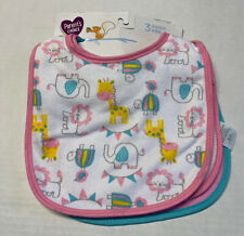 Parents Choice 3 Pack Infant Baby Girl Bibs Gift New Baby Shower Cotton Blend