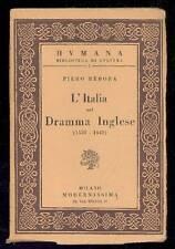 REBORA Piero, L'Italia nel Dramma Inglese (1558-1642)