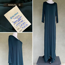 ⭐️ Hunter Green Long Sleeve Rayon Maxi Dress Size Large ⭐️