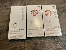 Lot Of 3 Wunder 2 Wunderbrow Blonde 1-Step Brow Gels (New In Boxes)