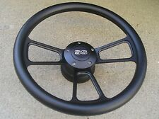 Black Billet steering wheel & Adapter SS HORN 69-92 GM chevy Ididit Jeep Flaming
