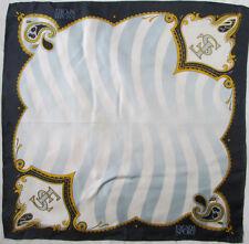-Authentique Foulard tour de cou ESCADA soie TBEG  vintage scarf 46 x 46 cm