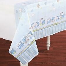 Amscan Carters Baby Boy Plastic Tablecover Cho-Cho Train Baby Shower