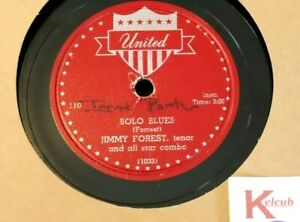 VINTAGE 78 JIMMY FOREST Bolo Blues / Night Train UNITED 110 RARE