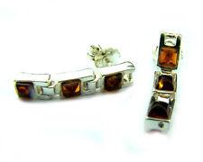 Bellissimo Argento 925 & ambra baltica di marca orecchini SilverAmber K100
