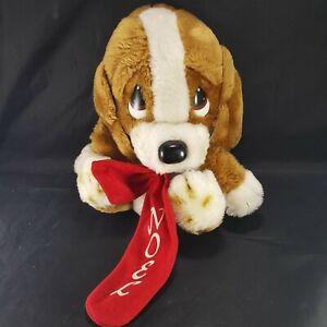 Applause Sad Sam Plush Puppy Dog Eyes Xmas Noel Socks Big ears stuffed animal