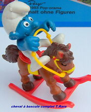 40221 superschtroumpf cheval bascule smurf puffo puffi schtroumpfette rarissime