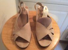 Arche Beige Peep Toe Slingback Sandals Shoes 40  9 US EUC