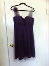 Flirty Review size 12 purple cocktail dress, new, unworn