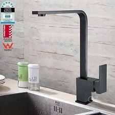 Bathroom Square Brass Kitchen Laundry Basin Sink Mixer Swivel Tap Faucet Black