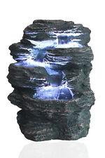 Springbrunnen Niagara mit 3x LED Beleuchtung Zimmerbrunnen Gartenbrunnen Brunnen