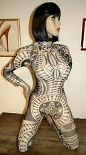 combinaison T36/38 transparente voile neuf tribal tatoo catsuit overall m l 179!