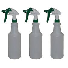 Empty Spray Bottles Plastic Heavy Duty Commercial Sprayers 32oz w/ Filters x3
