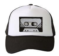 Trucker Mesh Vent Snapback Hat, Black Cassette 3D Patch Embroidery