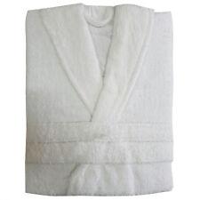 100 Cotton Ladies Bathrobe Mens Bath Robe Women Terry Towelling Dressing Gown White Size