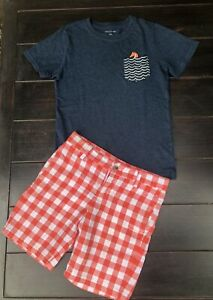 JANIE AND JACK Boys Shirt & Shorts Set Outfit Size 7