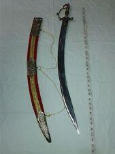 3 FOOT HANDMADE INDIAN SWORD FULL STEEL HANDLE KAMANI BLADE FULL COWER WOODEN