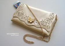 Disney Cinderella 2015 Live Action Film Butterfly Purse Clutch Handbag Gold NWT