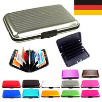 Aluminium Männer RFID NFC Blocker Wallet Card Holder Slim Geldbörse Pop Up