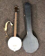 Vintage Harmony Reso-Tone 5 String Banjo w/ Case Open Back