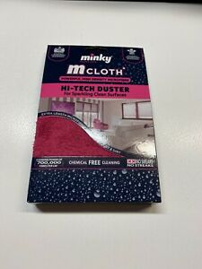 Minky M Cloth Hi Tech Duster Mircrofibre Cleaning Cloth Pink Glass Mrs Hinch