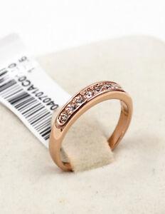 100% band new 18K rose gold simulated diamond wedding ceremony ring  size 6