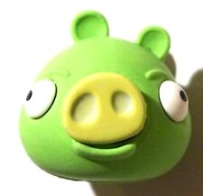 NEW! Angry Birds Minion Pig Green Puzzle Eraser Figure AWESOME!~ :)