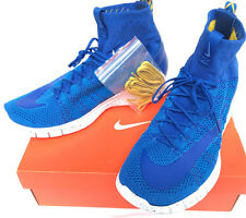 Nike Free Flyknit Mercurial 805554-400 Royal Marathon Running Shoes Men's 13 new