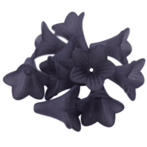 10Pcs Morning Gory Flower Acrylic Beads Caps DIY Accessories Jewelry Making