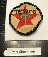 Vintage Texaco Gasoline Oil Gas Station Uniform Sew On Patch