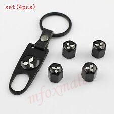 Auto Wheel Screw Air Tyre Tire Valve Cap Cover For Mitsubishi Accessory Key Ring