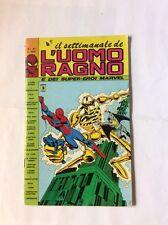 Il settimanale de L'UOMO RAGNO nr 41 Corno 1981 MARVEL dell'Uomo VENDICATORI DIF