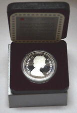 1986 CANADIAN DOLLAR PROOF VANCOUVER TRAIN .500 SILVER COIN WITH BOX & CoA !!!