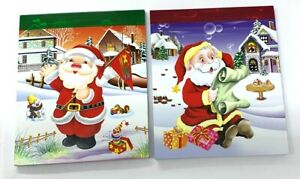 2 x Xmas Lined Christmas Jotter Pads 50 page Notebooks  2 Designs Ideal Xmas Box