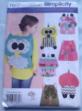 Simplicity Craft Sewing Pattern 1602 Childs Backpack Owl Flower Bird NEW FREE SH