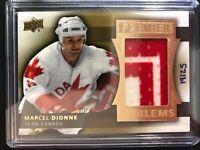 2014-15 UD Premier Emblems Marcel Dionne Team Canada Jersey Patch /25