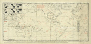 World and Star Chart Map Nautical Navigation Astronomy Poster Vintage 16x33