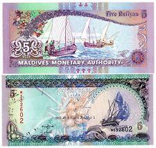 MALDIVES Billet 5  RUFIYAA 2011  P18  Bâteau / PECHEUR UNC NEUF